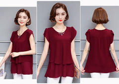 Women's Adorable yet Casual Chiffon Blouse - China