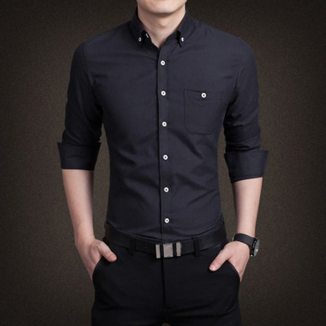 Simple Yet Comfortable High Quality Men's Button Down - China