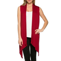 Womens Cardigan Irregular Sleeveless Knit Casual - China