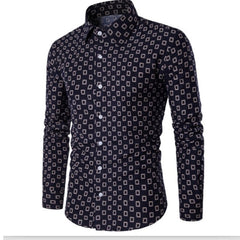 Intricate Design, Men's Autumn Button Down Shirt - China