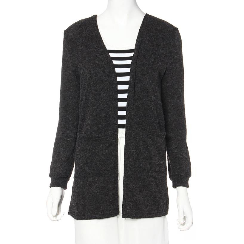 Women Long Sleeve Sweater Knitted Cardigan - China