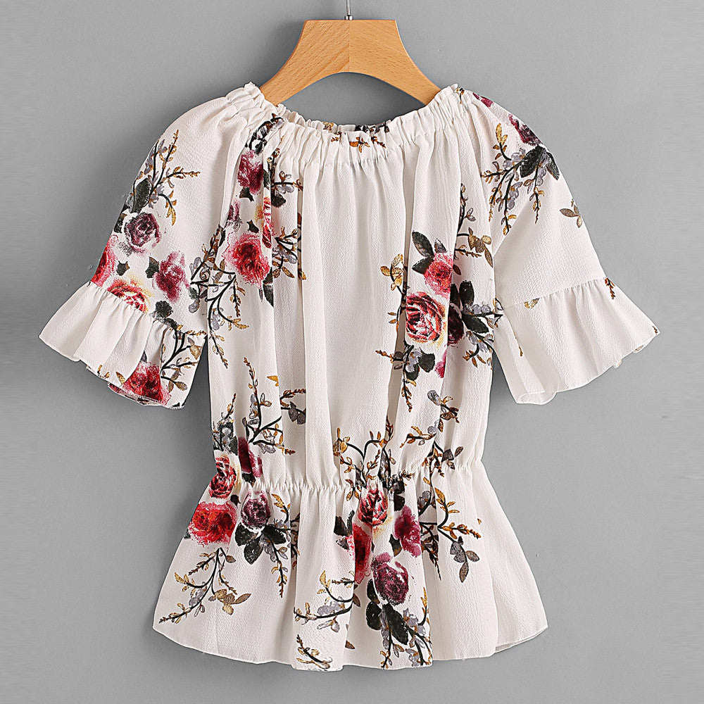 Floral Chiffon Blouse - China