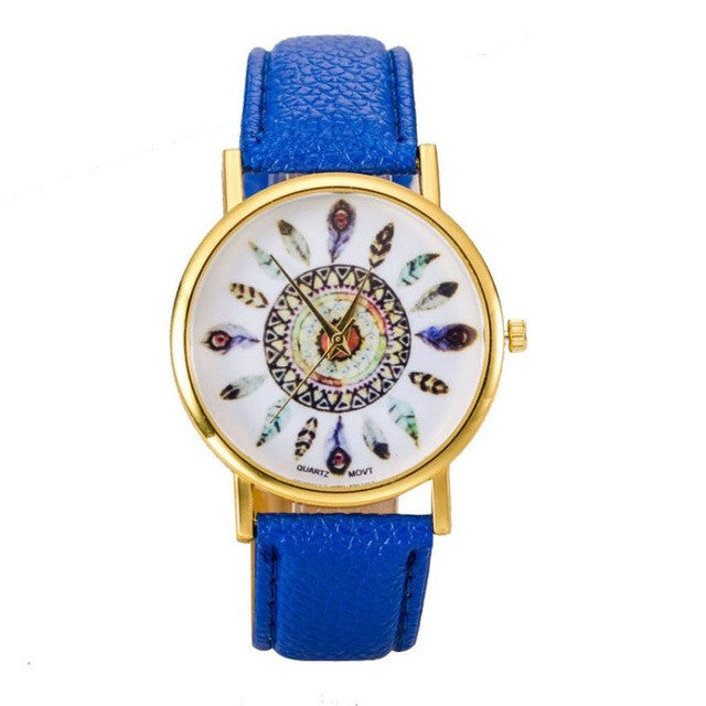 Beautiful Feather Face Watch - China