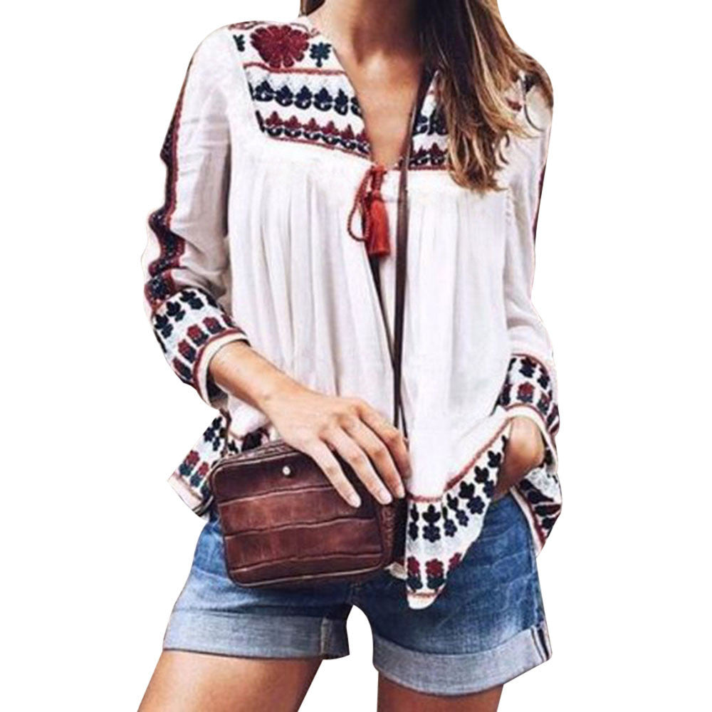 Autumn Chiffon Blouse - US