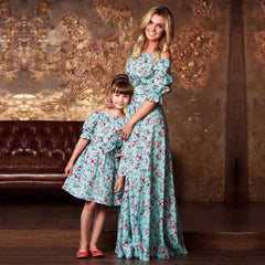 Mommy and Me Matching Floral Dresses - China
