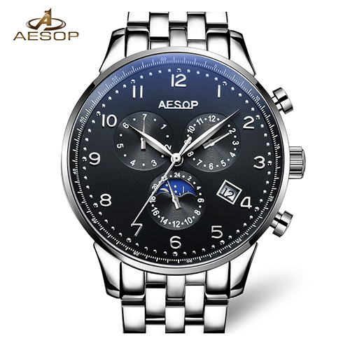 Aesop MoonPhase Stainless Steel Watch - China