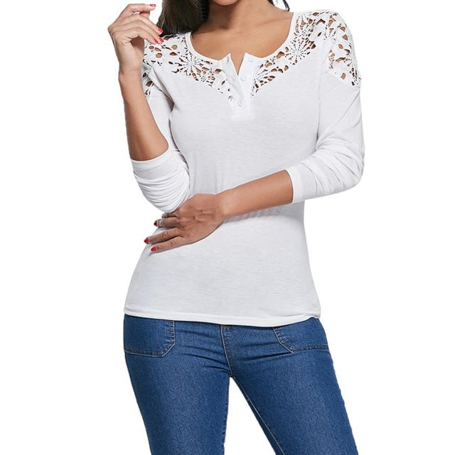 The Open Top V Neck Blouse One - US