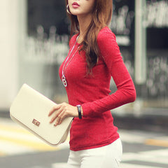 Volocean Women's Red Long Sleeve Multiple Sizes T Shirt - China