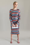 Sequin Stripe Midi