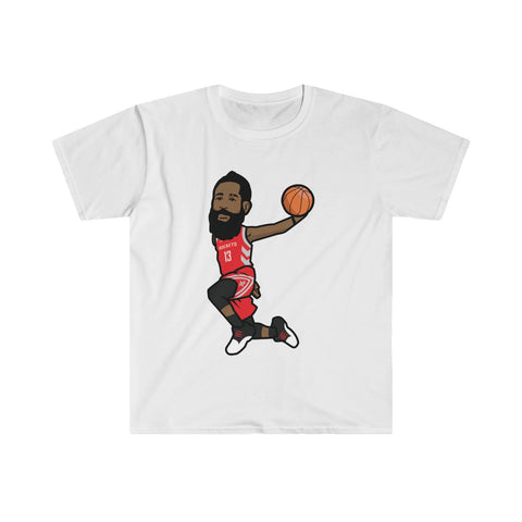7d0b481955f57f James Harden Dunking Fitted Short Sleeve Tee