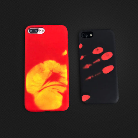 Funny Hand iPhone Physical Thermal Sensor Case