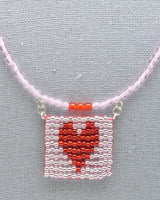 Heart Patterned Beaded Fidget Necklaces - Foldable, rollable, elegant stims - Kinetic Color Foundry - Necklace