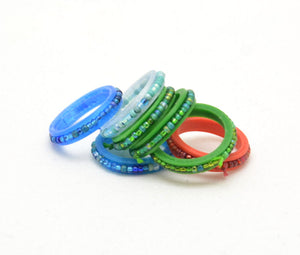 Beaded Spinner Ring - Kinetic Color Foundry - Fidgets