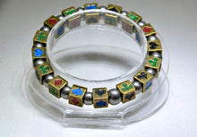 Kamen Rider Blade stretch bracelet with handpainted cube beads - Kinetic Color Foundry - Bracelet