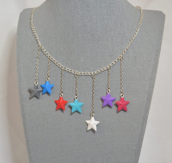 The Recognizable Stars : A Century III /  Dead Mall Tribute necklace - Kinetic Color Foundry - Necklace