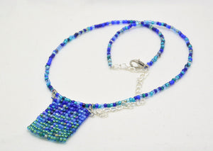 Beaded Fidget Necklaces - Foldable, rollable, elegant stims - Kinetic Color Foundry - Necklace