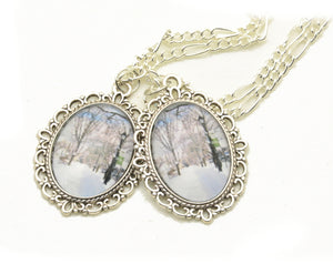 Photo Pendants: Winter Path