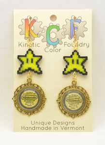 Nintendo Seal of Quality Earrings - Kinetic Color Foundry - Fandom Jewelry