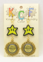 Nintendo Seal of Quality Earrings - Kinetic Color Foundry