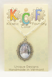 Photo Pendants: Winter Path - Kinetic Color Foundry - Pendant Necklace