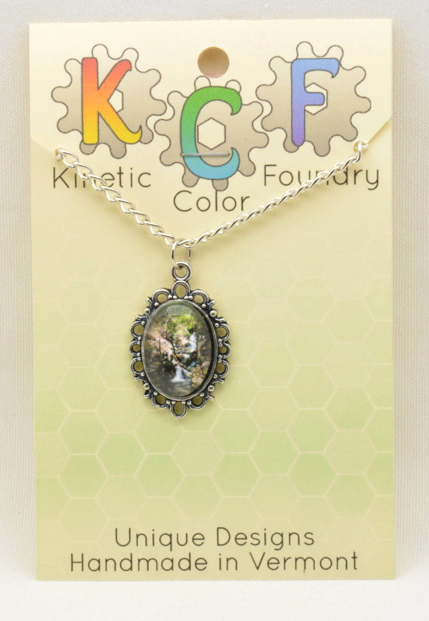 Photo Pendants: Waterfall - Kinetic Color Foundry - Pendant Necklace