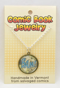 Comic Book Pendants : Sound Effects - Kinetic Color Foundry - Pendant Necklace