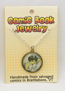 Comic Book Pendants : Green Lanterns - Kinetic Color Foundry - Pendant Necklace