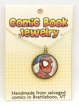 Comic Book Pendants : Spiderman - Kinetic Color Foundry - Pendant Necklace