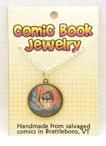 Comic Book Pendants : Superman - Kinetic Color Foundry - Pendant Necklace