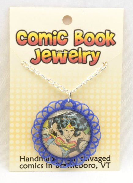 Comic Book Pendants : Wonder Woman - Kinetic Color Foundry