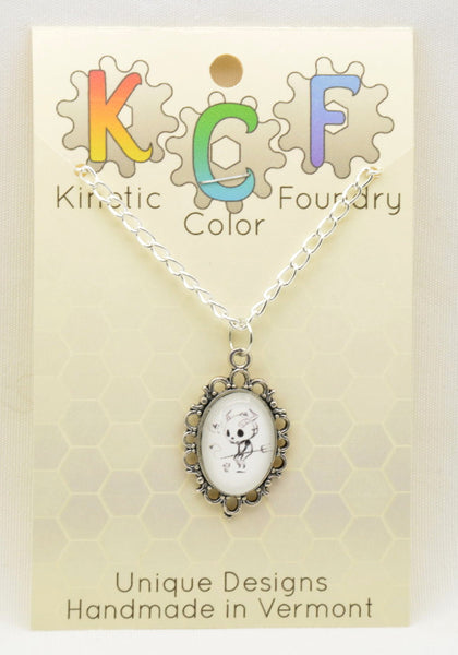 The Demon and the Mouse Necklace - Kinetic Color Foundry