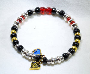Clearance: Kamen Rider Blade, Chalice bracelet on memory wire - Kinetic Color Foundry - Tokukei Bracelet