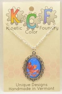 Photo Pendants: Red Leaves, Blue Sky - Kinetic Color Foundry - Pendant Necklace