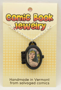 Comic Book Pendants : Wonder Woman - Kinetic Color Foundry - Pendant Necklace