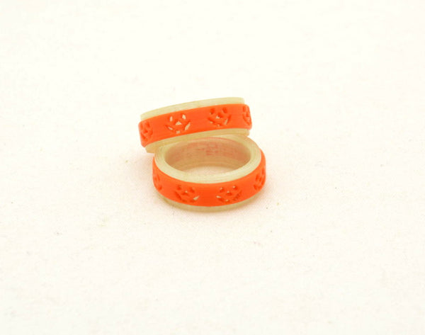 Halloween Fidget Ring - Glow in the dark Jack o Lantern - Kinetic Color Foundry - Fidgets