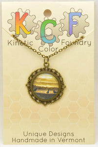 Photo Pendants : Birds on the Beach Series - Kinetic Color Foundry - Pendant Necklace