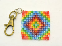 Mini Cube Bead Fidget Squares - Pocket sized sensory stims for redirecting anxious energy - Kinetic Color Foundry - Fidgets