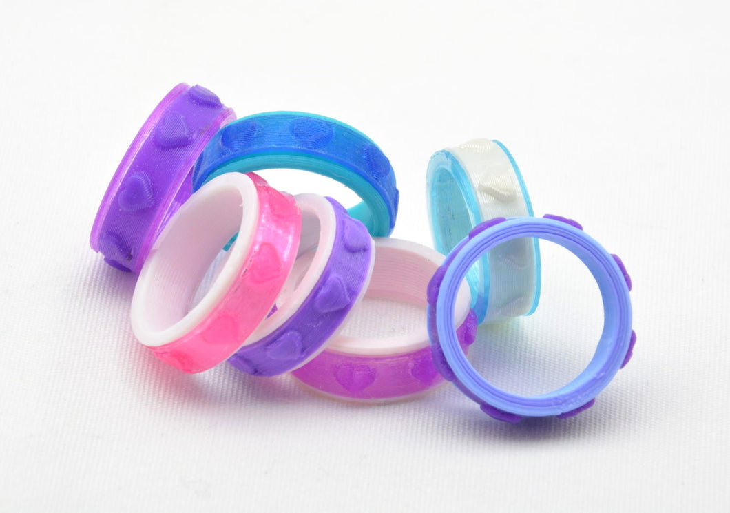 Heart Pattern Fidget Ring - Kinetic Color Foundry - Fidgets