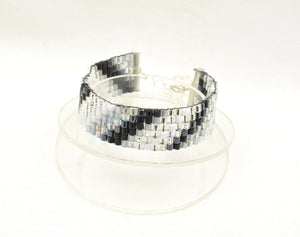 Waves of Grey woven bracelet