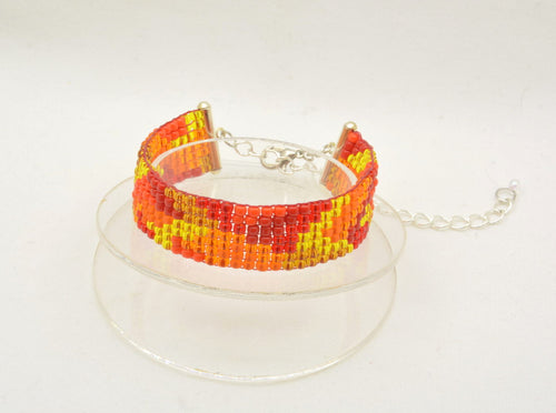 Fall Leaves woven bracelet