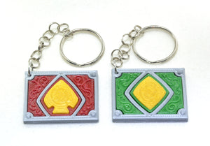 Kamen Rider Blade and Garren Keychains - Kinetic Color Foundry - Keychain clip