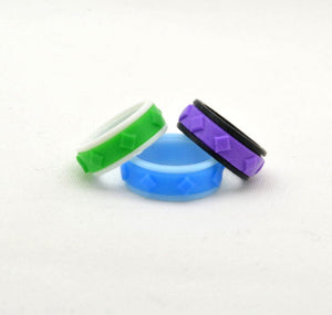 Diamond Pattern Fidget Ring - Kinetic Color Foundry - Fidgets