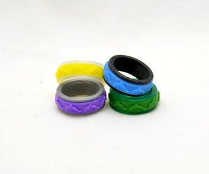 Dolphin Pattern Fidget Ring - Kinetic Color Foundry - Fidgets