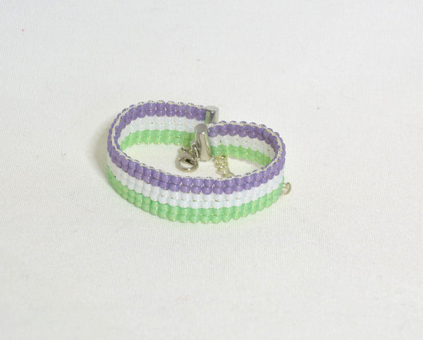 Genderqueer Woven Bracelet - Kinetic Color Foundry