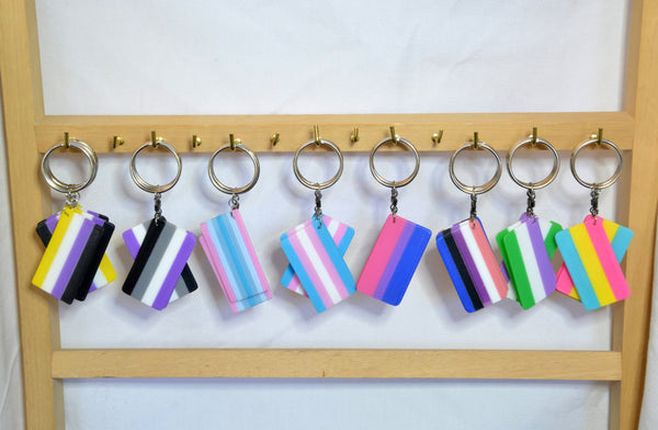 Pride Flag Keychains - Kinetic Color Foundry - Keychain