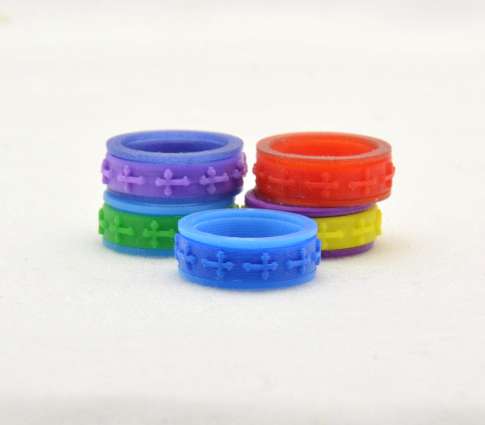 Cross Pattern Fidget Ring - Kinetic Color Foundry - Fidgets