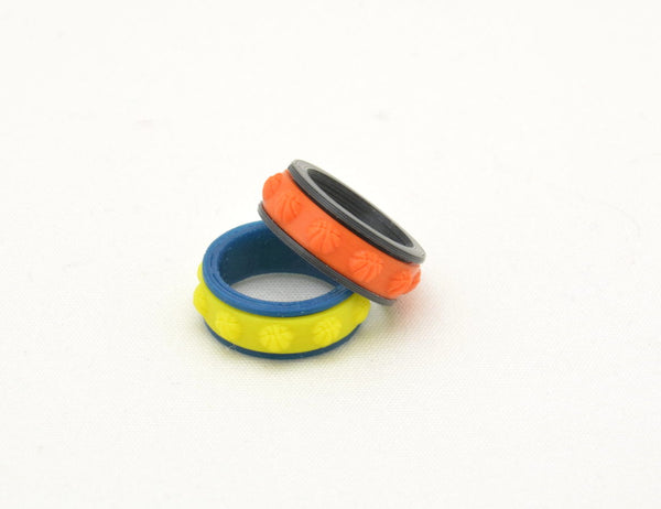 Basketball Pattern Fidget Ring - Kinetic Color Foundry