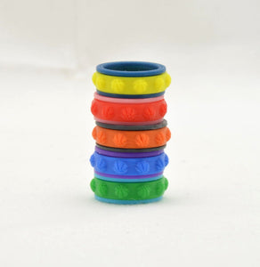 Basketball Pattern Fidget Ring - Kinetic Color Foundry - Fidgets