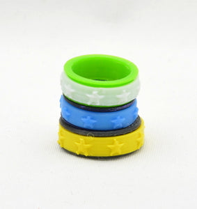 Star Pattern Fidget Ring - Kinetic Color Foundry - Fidgets