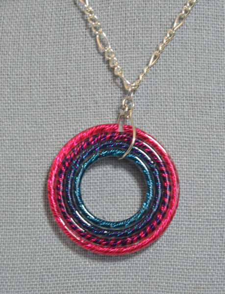 Nested Circle Bi Pride Necklace - Kinetic Color Foundry